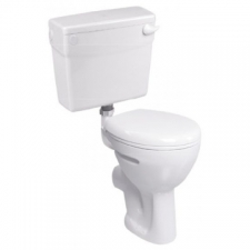 Lecico - School Low-Level Pan w/ Elf Cistern & Mech & MDF Seat White