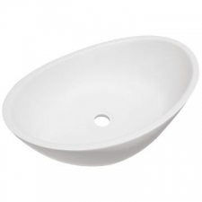Livingstone Baths - Gemelli Countertop Basin 550x335x160mm White