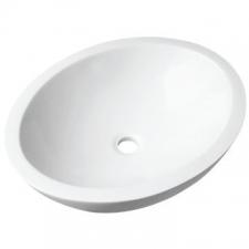 Livingstone Baths - Ovale Basin Countertop Large 560x475x140mm Grey