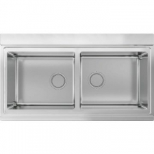 Smeg - Mira Design Inset Sink Double Bowl 897x510mm Stainless Steel