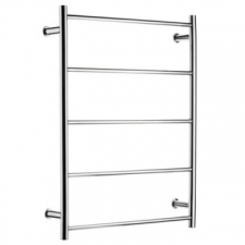 Stunning Bathrooms - Heated Towel Rail 5 Bar w/ Timer Left Hand 800x600mm Polished Stainless Steel