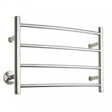 Stunning Bathrooms - Heated Towel Rail 4 Bar Right Polished Stainless Steel