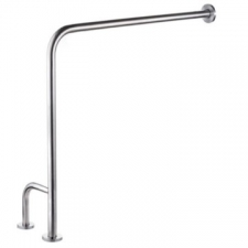 Stunning Bathrooms - Toilet Side Bar Right-Hand Side 800x800mm Brushed Stainless Steel