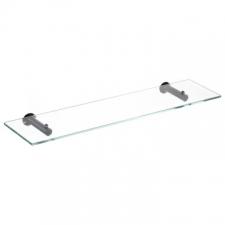 Stunning Bathrooms - Slimline Glass Shelf 550x120mm Matt Black