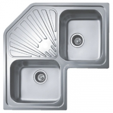 Classic Angular Sink Drop-In DEB 830x830x187mm Polished Stainless Steel
