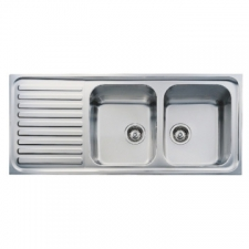 Classic 2B 1D Sink Drop-In DEB 1160x500mm Polished Stainless Steel