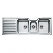 Classic 2.5B 1D Sink Drop-In DB & Tidy 1400x500x199mm Polished Stainless Steel