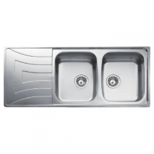 Universo 2B 1D Sink Drop-In DB 1160x500x160mm Polished Stainless Steel