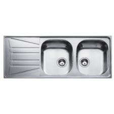 Basico 2B 1D Sink Drop-In DEB 1160x500x150mm Polished Stainless Steel