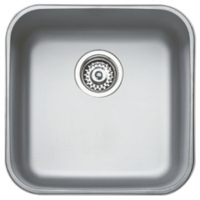 Basico 400 Sink Underslung SB 433x433x180mm Polished Stainless Steel