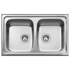Sink Drop-In DB w/o Tap Hole & Overflow