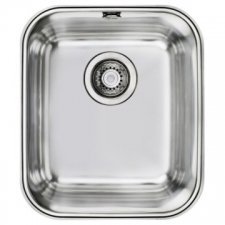BE 34 40 Plus Sink Underslung SB 427x367x200mm Polished Stainless Steel