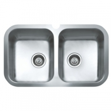BE 2B 765 Sink Underslung Double Bowl 464x780x200mm Polished Stainless Steel
