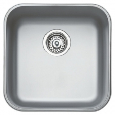 BE 40 40 Plus Sink Underslung SB 433x433x200mm Polished Stainless Steel