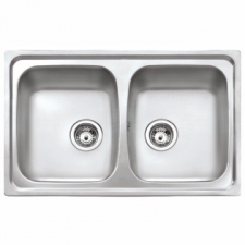 Starbright 2B Reversible Double Bowl Sink 790x500mm Stainless Steel