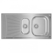 Starbright 1.5B 1D Reversible Single Bowl & Tidy Drop-In Sink 980x500mm Polished Stainless Steel