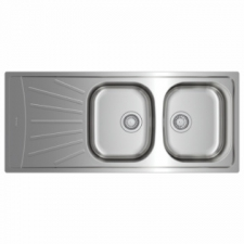Starbright 2B 1D Reversible Double Bowl Single Drainer Sink 1160x500mm Stainless Steel