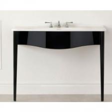 Victoria & Albert - Lavello 114 Vanity with Basin Top No Tap Holes 1145x579mm Gloss Black