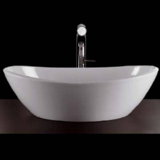 Victoria & Albert - Amalfi Rimless Countertop Basin 550mm White