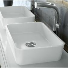 Victoria & Albert - Edge Rimless Countertop Basin 110x322x450mm White