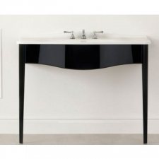 Victoria & Albert - Lavello 114 Vanity with Basin Top No Tap Holes 1145x579mm Gloss Black
