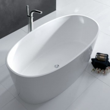 Victoria & Albert - IOS Contemporary Freestanding Dbl-Ended Bath no Overflow 1500x800x600mm White