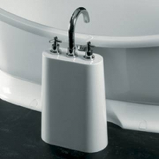 Victoria & Albert - Lido Tap Stand 2-3 Tap Holes White